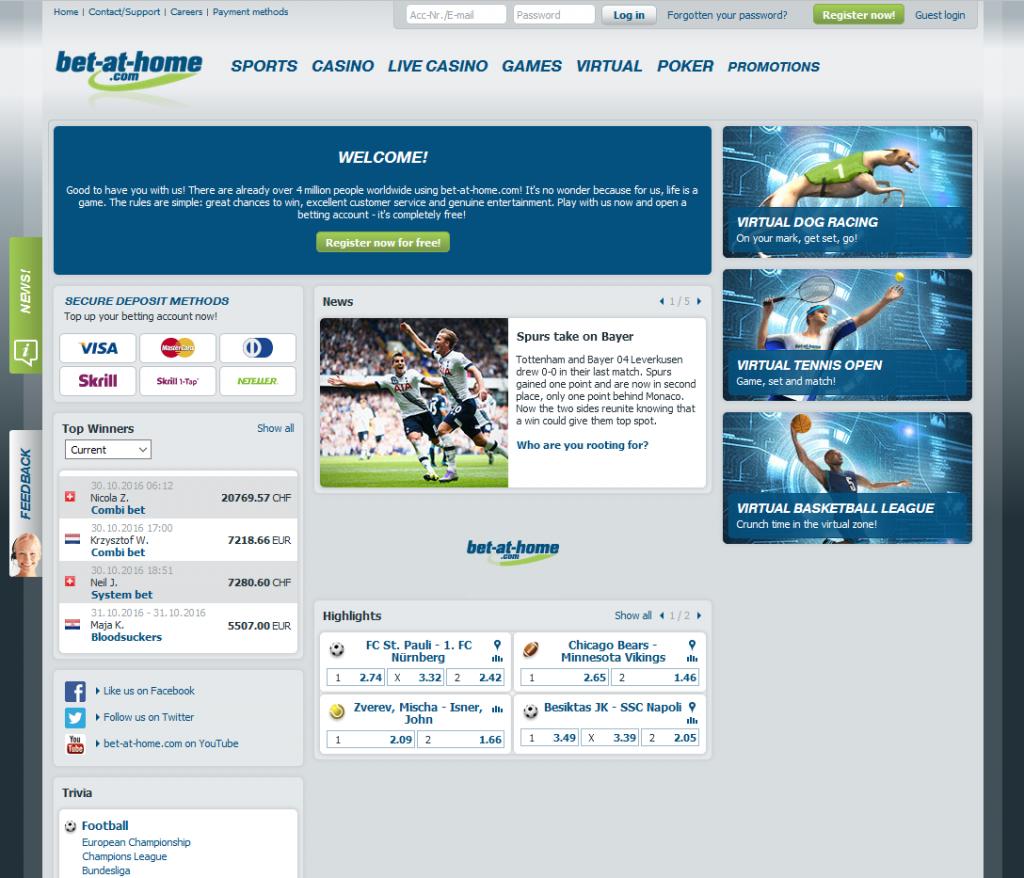 bet-at-home.com функционал